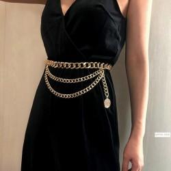 Vintage Golden Waist Chain for Jeans Dresses