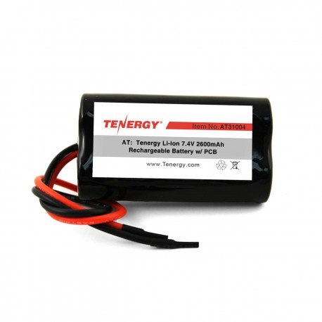 AT: Tenergy Li-Ion 7.4V 2600mAh Rechargeable Battery Pack w/ PCB (2S1P, 19.24Wh, 5A Rate)