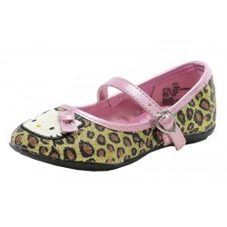Hello Kitty Toddler Girl's Fashion Mary Janes HK Lola Shoes FB5361 - Gold - 5,6,7 Toddler