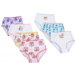 Disney Princess Toddler Girl's 7 Pc Assorted Cotton Brief Underwear - Multi - 4T,Multi - 2T/3T