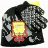 pongebob Squarepants Boy's Knit Beanie Hat & Glove Set Sz. 4 7 - Black - 4 7
