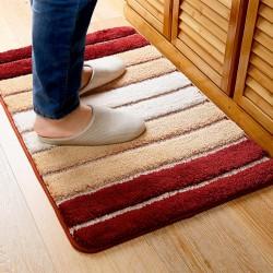 Honana MT-815 50x80cm Modern Minimalist Mat Anti-Skid Gradient Stripe Rugs Carpet